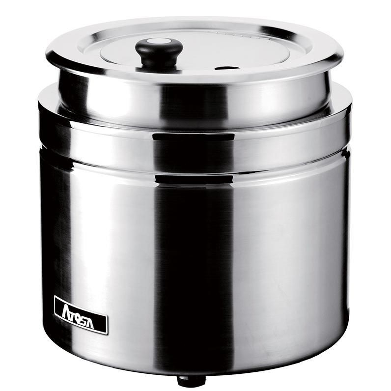 Atosa AT51388 Stainless Steel Soup Kettle Warmer, 11 Qt.