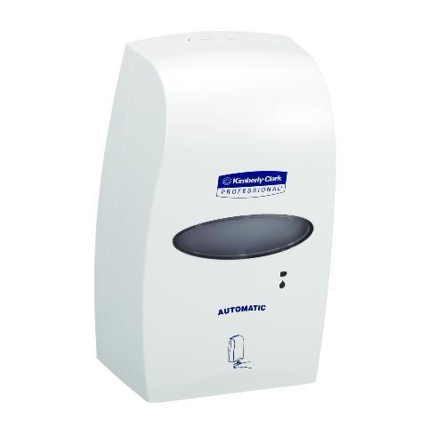 Electronic Cassette Skin Care Dispenser, 1200 mL, 7-1/4w x 4d x 11-12/25h, White