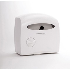 Electronic Touchless Coreless Bathroom Tissue Dispenser, White 15 x 13.875 x 9.125