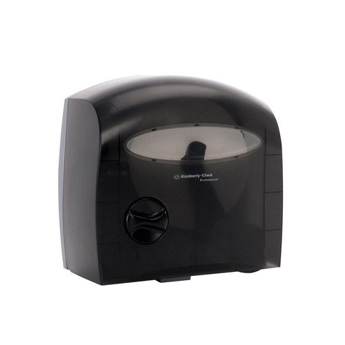 Electronic Touchless Coreless Bathroom Tissue Dispenser, Black, 15 x 13.875 x 9.125