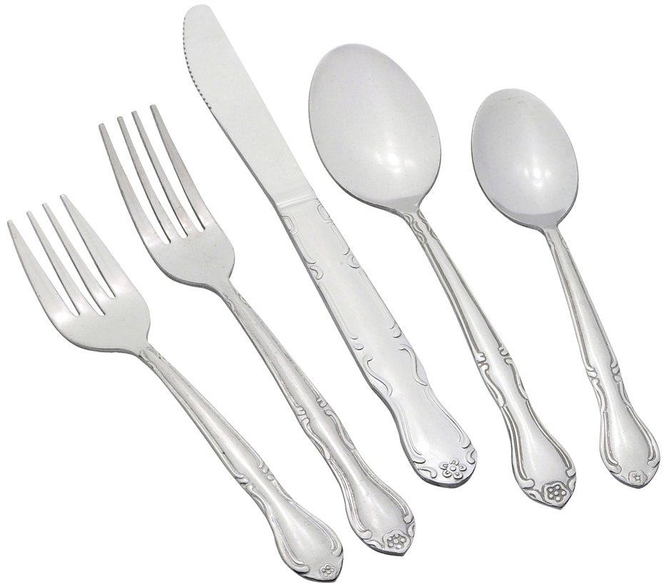 Winco ELEGANCE Elegance Heavy Weight 5-Piece Place Setting for 12 (60/Pack)