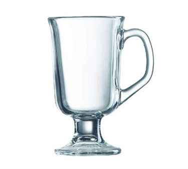 Elegant 10 Oz. Footed Irish Coffee Mug in Tempered Glass