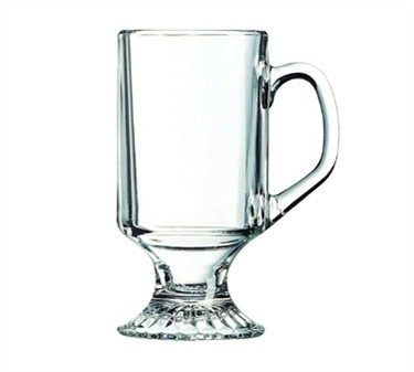 Elegant 10 Oz. Irish Coffee Footed Mug In Non-Tempered Glass
