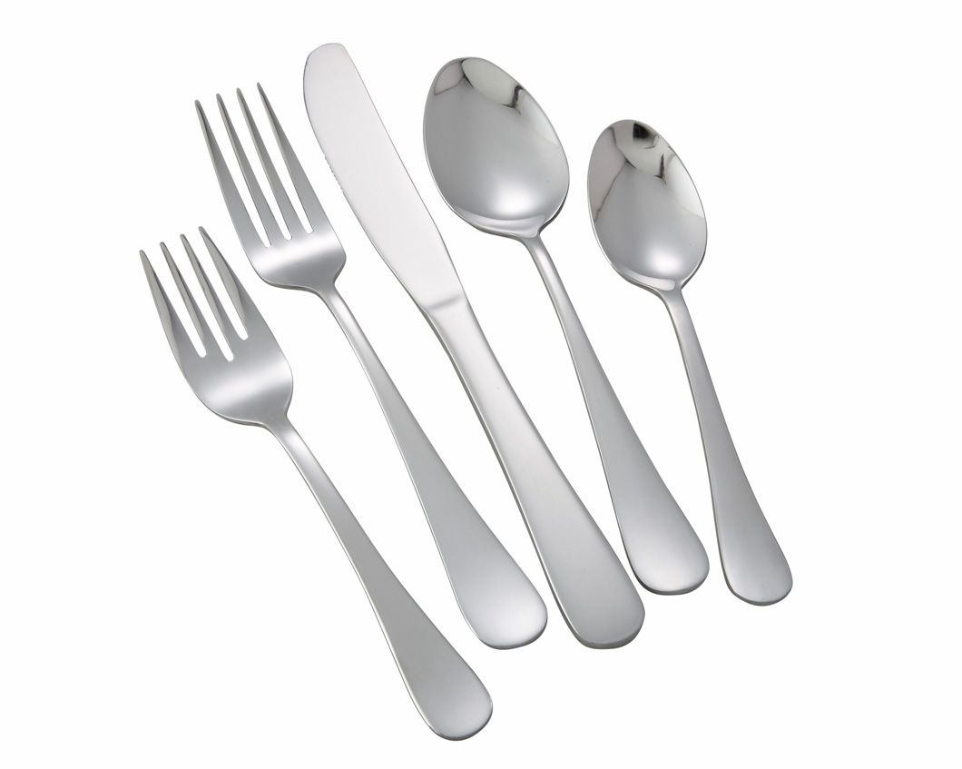 Winco ELITE-HVY Elite Heavy Weight 5-Piece Place Setting for 12 (60/Pack)