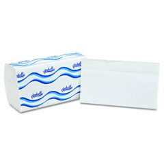 Embossed Singlefold Paper Towels, One-Ply, 9 9/20 x 9, White, 250/Pack