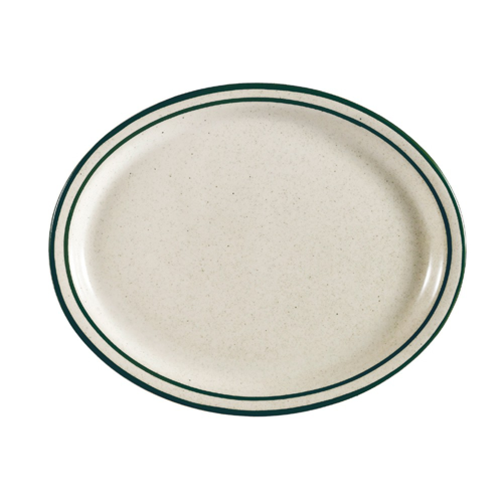 CAC China CES-13 Emerald Narrow Rim Platter, 11 1/2""