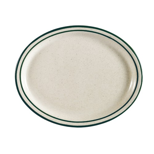 CAC China CES-14 Emerald Narrow Rim Platter, 13 1/2""