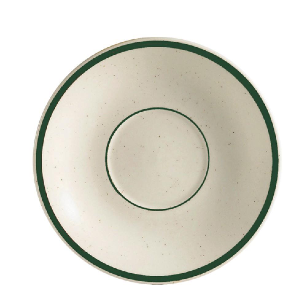 "CAC China CES-2 Emerald Saucer, 6"""
