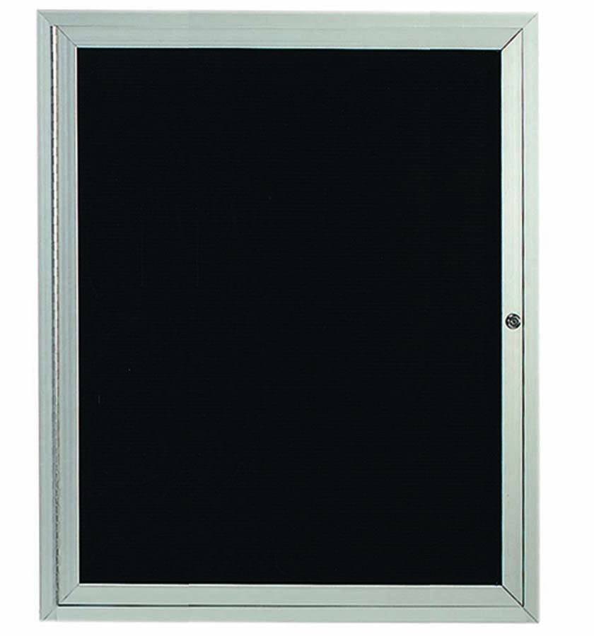 """Aarco Products ADC3630 1-Door Enclosed Aluminum Directory Cabinet, 36""""H x 30""""W"""