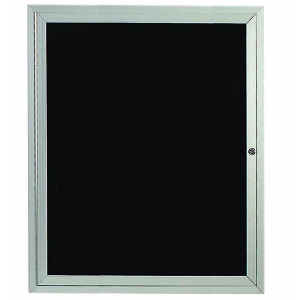 Enclosed 1-Door Aluminum Directory Cabinet - 36