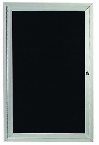 "Aarco Products ADC2418I 1-Door Enclosed Aluminum Illuminated Directory Cabinet, 24""H x 18""W"