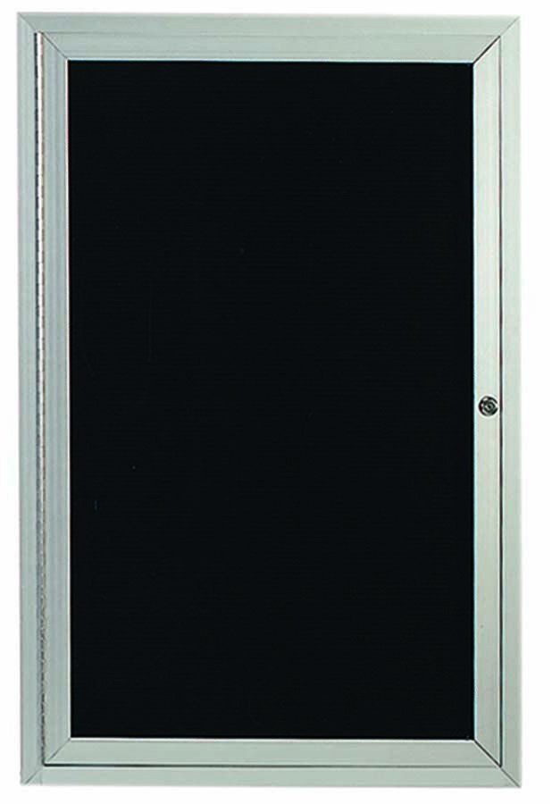 "Aarco Products ADC3624I 1-Door Enclosed Aluminum Illuminated Directory Cabinet, 36""H x 24""W"