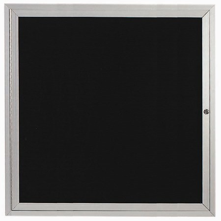 "Aarco Products ADC3636L Enclosed Aluminum Directory Cabinet, 36""H x 36""W"