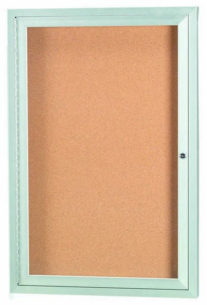 """Aarco Products DCC2418R 1 Door Indoor Enclosed Bulletin Board with Aluminum Frame, 24""""H x 18""""W"""