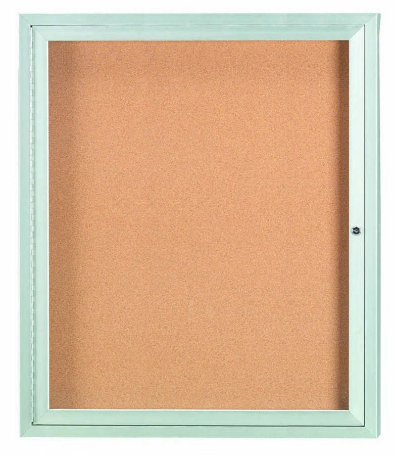 "Aarco Products DCC3630R 1 Door Indoor Enclosed Bulletin Board with Aluminum Frame, 36""H x 30""W"