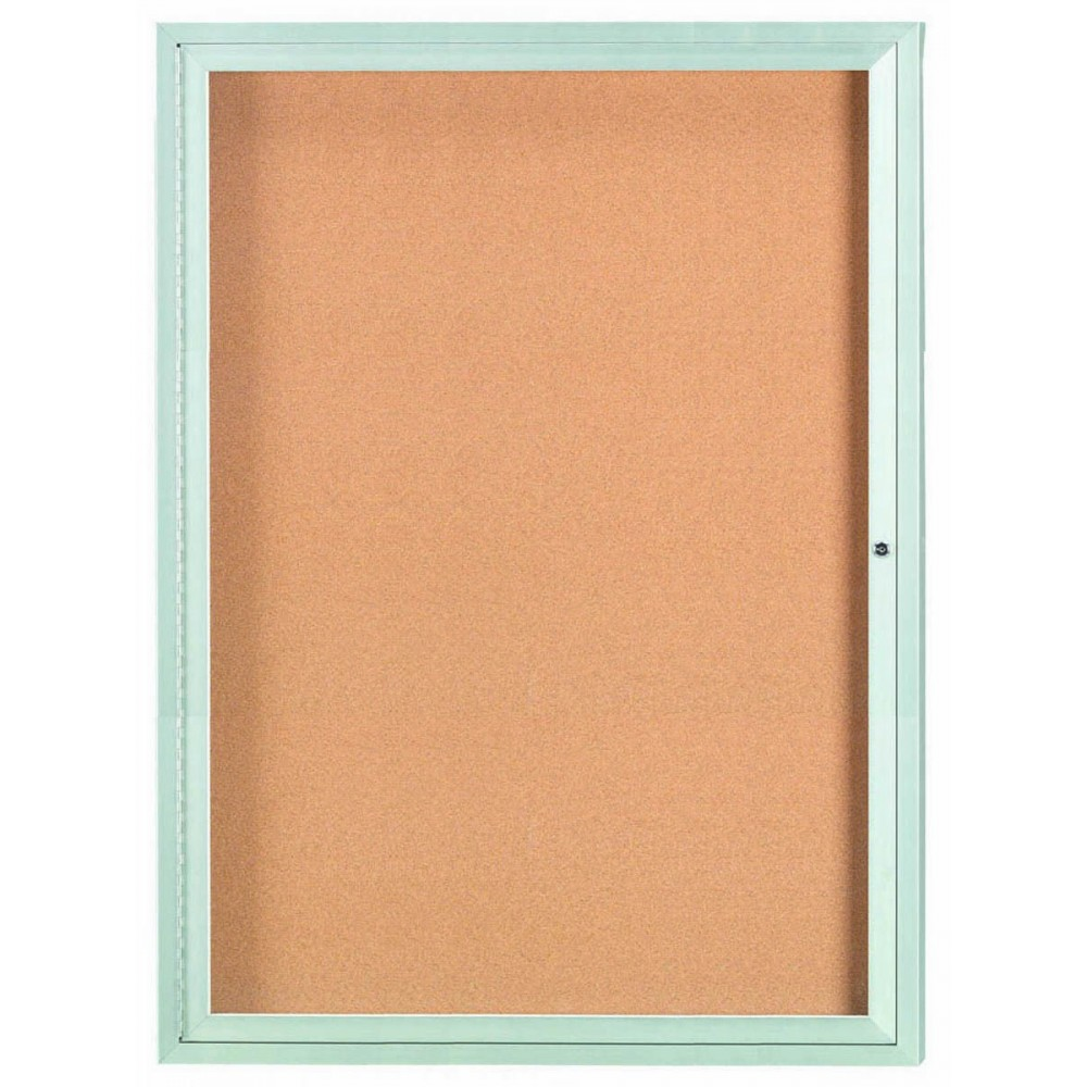 "Aarco Products DCC4836R 1 Door Indoor Enclosed Bulletin Board with Aluminum Frame, 48""H x 36""W"