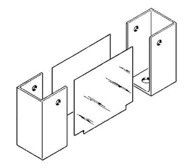 Franklin Machine Products  141-1064 End, Partition Shoe (Universal )