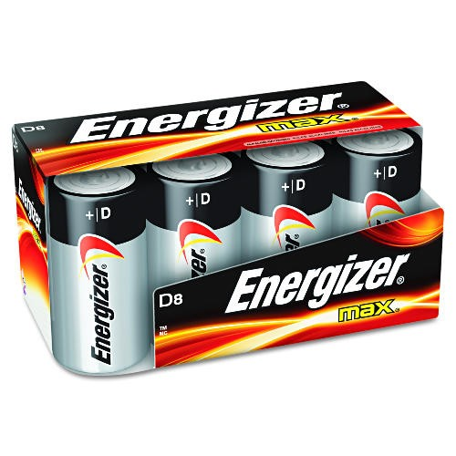 Energizer Battery D, 8-Pack