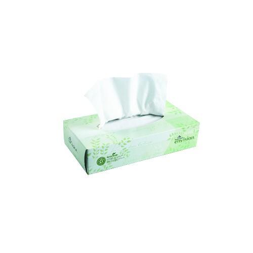 Envision Facial Tissue 8 X 8.3 2-Ply, White