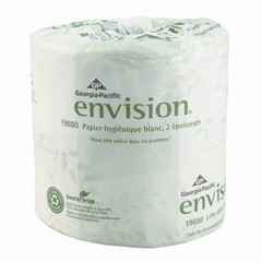 Envision Toilet Tissue, 1-Ply, White