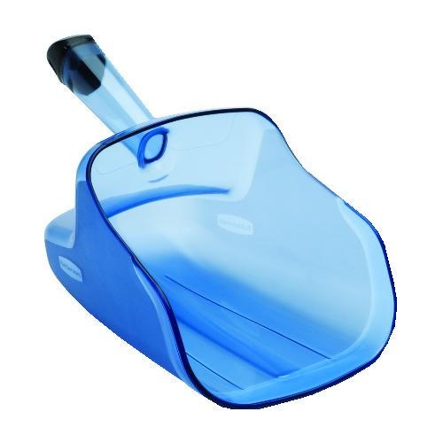 Ergo Safe Scoop with Handle, Translucent Blue