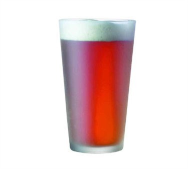 Everfrost Frosted 16 Oz. Pub Glass - 5-3/4