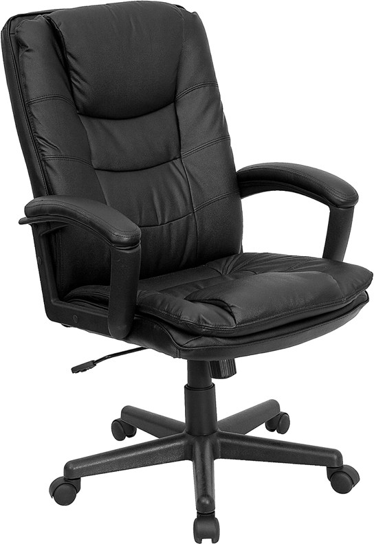 Flash Furniture BT-2921-BK-GG Executive Leather High Back Office Chair