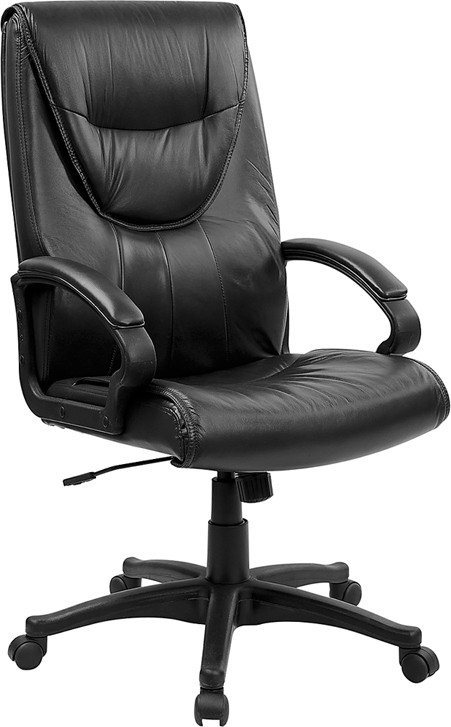 Flash Furniture BT-238-BK-GG Executive Swivel Black Leather Chair