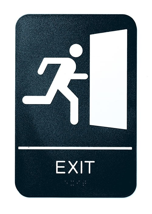 "Exit Braille Sign, 6"" x 9"""