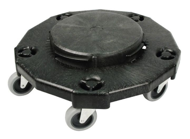 "Winco DLR-2 Black Extra Heavy Plastic Dolly 18"""