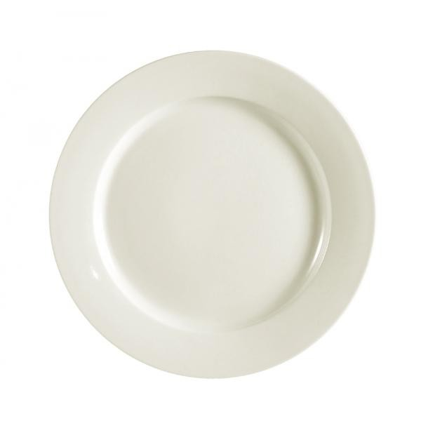 Extra Large Dinner Plate - American Ivory, Wide Rim China (12
