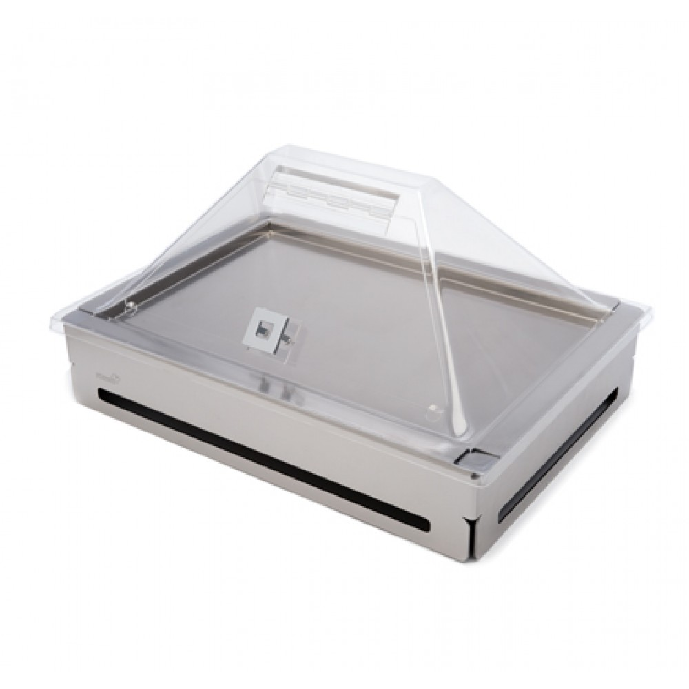 Rosseto SA124 Clear Acrylic Extra Large Pyramid Cover with Flip Door for Rectangular Cooler