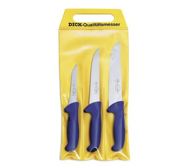 F. Dick - Set Of 3 Ergogrip Butcher Knives In Pouch