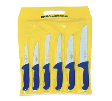Friedr. Dick 8256200 Set Of 6 Ergogrip Butcher Knives In Pouch
