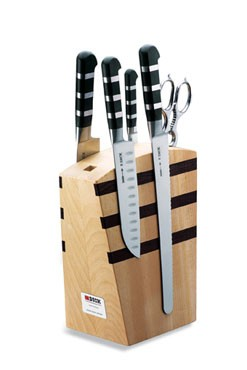 Friedr. Dick 8197000 Wooden Knife Block Magnetic with 1905 Series Knives