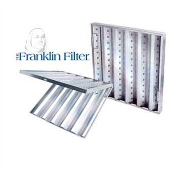 Franklin Machine Products  129-1112 Franklin Machine Products  Stainless Hinged Hood Filter, Baffle (20X20)