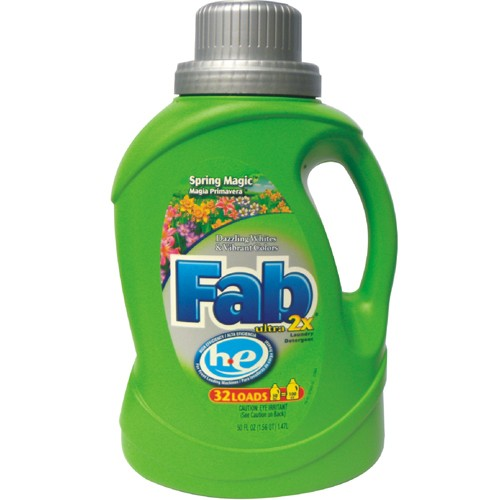 Fab 2X HE Laundry Detergent, Spring Magic 50 Oz
