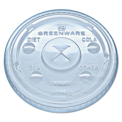 Fabri-Kal Greenware ClearCold Drink Lids Fits 9, 12, 20 oz. Cups, 1000/Carton