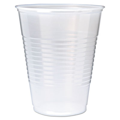 Fabri-Kal RK Ribbed Clear Cold Drink Cups, 12 oz., 1000/Carton