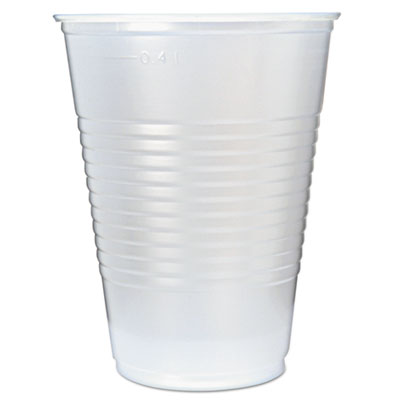 Fabri-Kal RK Ribbed Clear Cold Drink Cups, 16 oz., 1000/Carton