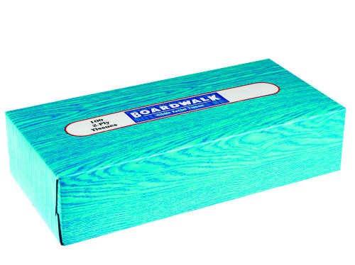 Facial Tissue, Flat Box, 100 Sheets/Box