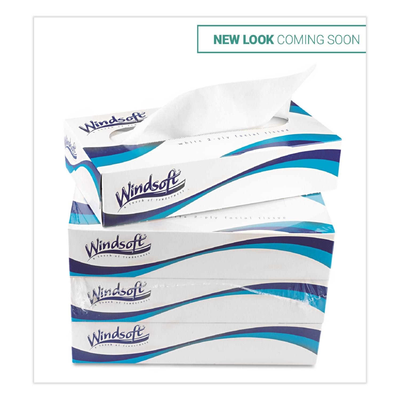 Facial Tissue in Pop-Up Box, 2-Ply, White, 100 Sheets/Box, 6 Boxes/Carton