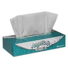 Facial Tissues, 2-Ply, White, 100 Sheets/Flat Box, 30 Boxes/Carton