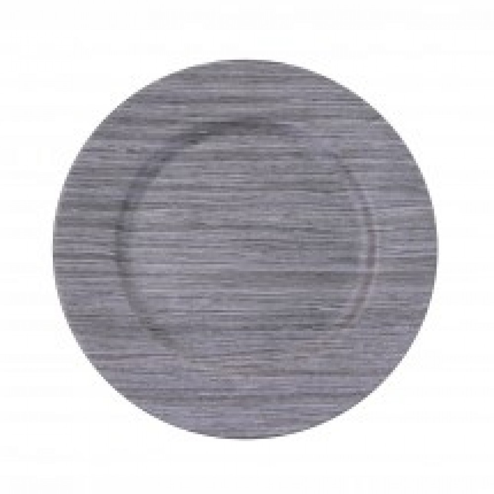 "Koyal 424214 Faux Wood Driftwood 13"" Charger Plate"