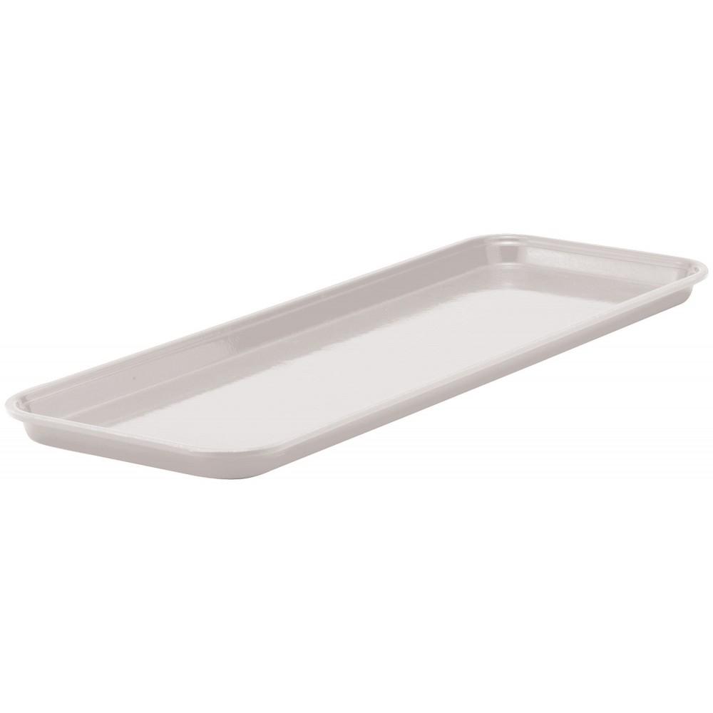 "Winco FGMT-0926W Fiberglass Market Tray, White 9"" x 26"""