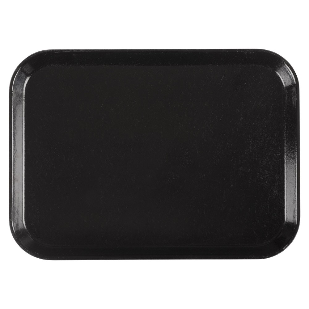 "Winco FGT-1216K Fiberglass Rectangular Tray, Black, 12"" x 16"""