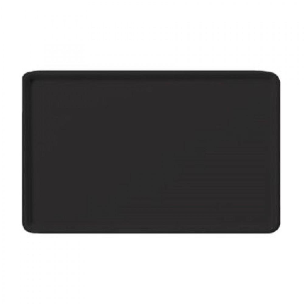 Winco fgt-1418k Fiberglass Rectangular Tray, Black, 14''x 18''