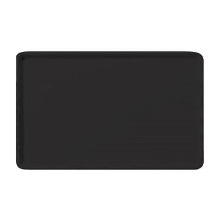 Winco FGT-1418K Fiberglass Rectangular Tray, Black, 14quot; x 18quot;