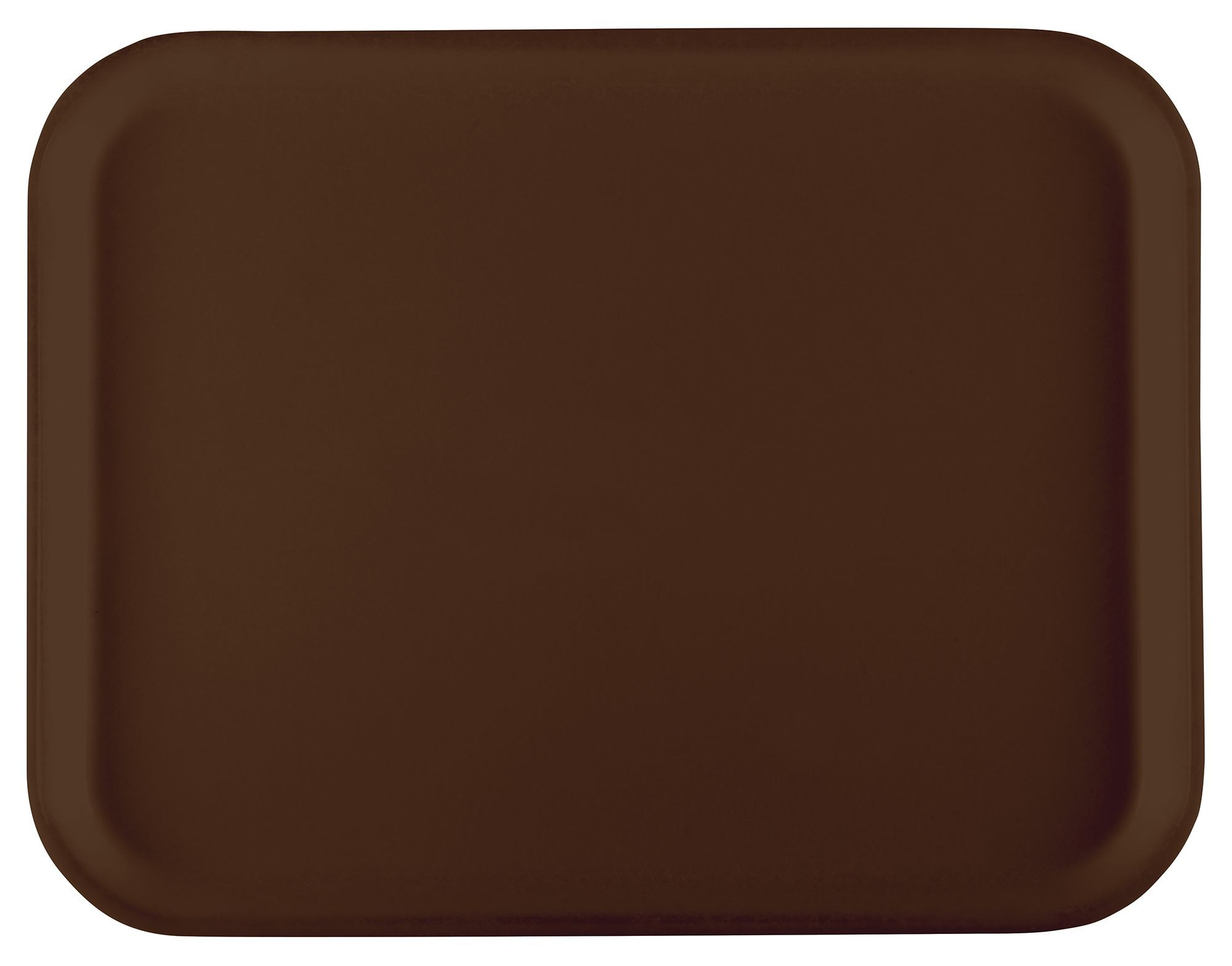 "Winco FGT-1216B Fiberglass Rectangular Tray, Brown, 12"" x 16"""