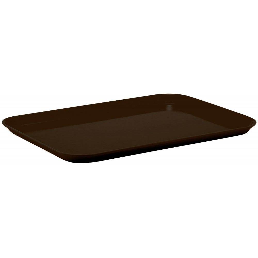 Winco fgt-1418b Fiberglass Rectangular Tray, Brown, 14''x 18''